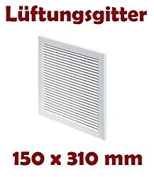 Air Vent Grille Cover 150 X 310mm (6 X 12.5inch) White Ventilation Cover