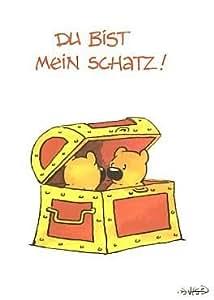 Postkarte Liebe: Du bist mein Schatz: Amazon.de