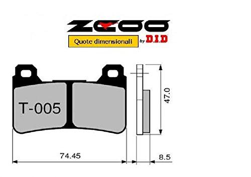 45T00500 PASTIGLIE FRENO ZCOO (T005 EX) HONDA CBR 1000 RR Fireblade (SC-57) 2004-2005 (ANTERIORE)