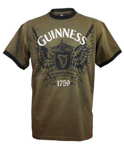 guinness-official-merchandise-camiseta-de-manga-corta-con-cuello-redondo-para-hombre-color-caqui-tal