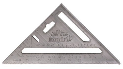 Empire Level 2990 Heavy Duty Magnum Rafter Square 7-1/2-Inch Length by Empire Level -