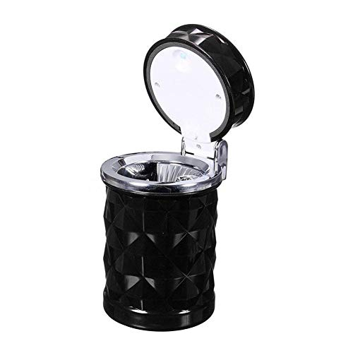 KingbeefLIU Tragbare Auto Aschenbecher, led Tasse Reise aschenbecher aschenbecher Container zigarettenrauch entferner,für die Reinigung von Zigarettenasche Weiß