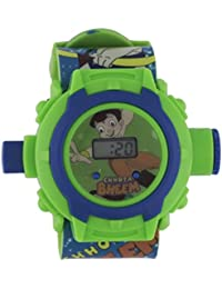 Shanti Enterprises Combo Sports Watch Multi Color Dial For Kids And Chota Bheem 24 Images Projector Watch