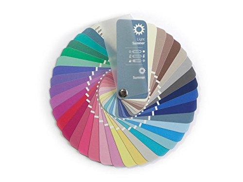farbkarte sommertyp Farbpass Sommer (Light Summer) als kleiner Fächer mit 35 typgerechten Farben zur Farbanalyse, Farbberatung, Stilberatung
