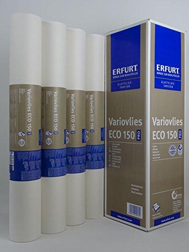 4 Rollen ERFURT Eco Vlies 75m² Malervlies Renoviervlies 150g, überstreichbare Vliestapete