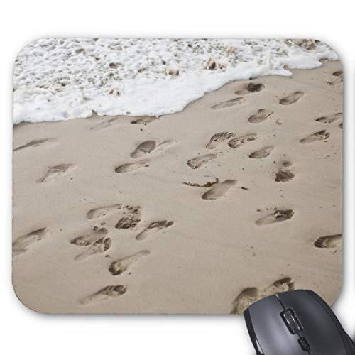 Gaming-Mauspad, rechteckig, für Computer, Laptop, verwirrte Fußspuren im Sand