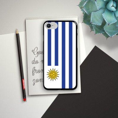Apple iPhone X Silikon Hülle Case Schutzhülle Uruguay Flagge Fußball Hard Case schwarz