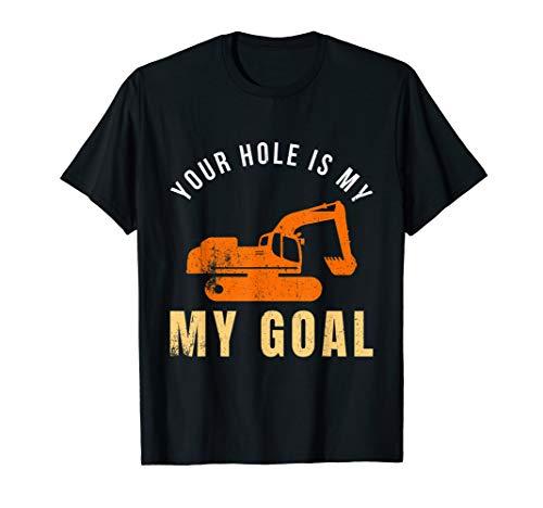 Bagger Baggerfahrer Bauarbeiter Baustelle Bau T-Shirt