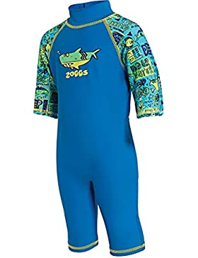 Zoggs, bañador para niños de una pieza con protección solar, Infantil, 1-Piece Deep Sea Sun Protection, Blue/Multi-Colour...