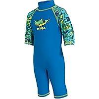 Zoggs bañador para niños de una pieza con protección solar, Infantil, 1-Piece Deep Sea Sun Protection, Blue/Multi-Colour, 2-3 años