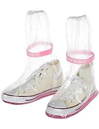 Rain Shoes Cover - SODIAL(R) Outdoor Raincoat Set Cycle Rain Boots Overshoes Rainboots Waterproof Rain Shoes Cover£¨S£º29 * 12cm£©orange foundation