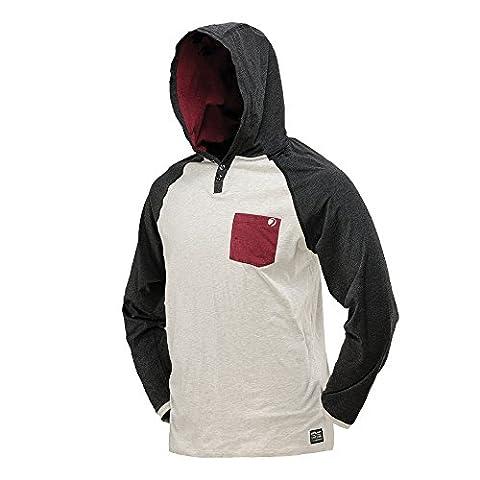 DYE Coba Hooded Shirt Multi-Coloured Weiß/Kastanien Braun Size:M