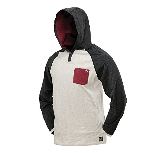 DYE Coba Hood Shirt Off, White/Maroon, Gr. XXL, 86301707 - Dye Paintball Bekleidung