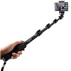 Yunteng YT-1288 – Selfie-Stick con Telecomando Bluetooth per Smartphone – Nero