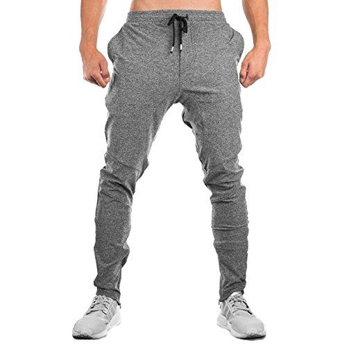 PHIBEE Hombre Pantalón Básico de Entrenamiento de Gimnasia para Pantalón  Deportivo de Jogging. 29b173d86492
