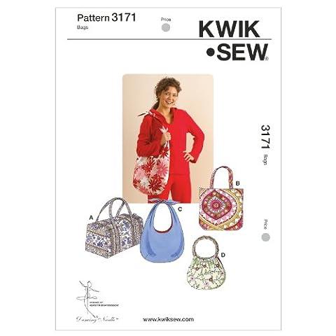 KWIK - SEW PATTERNS K3171 Bags, Pack of 1, White