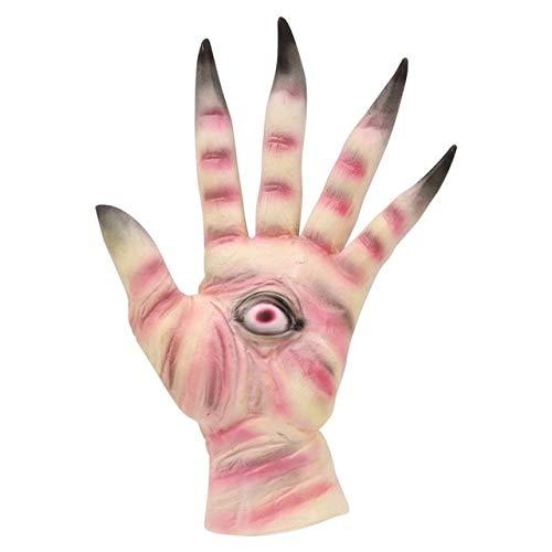 Terror Kostüm Night - WSCOLL Halloween Party Supply Creepy Latex Handschuhe Requisiten Pfannen Labyrinth Pale Terror Für Erwachsene Cosplay Zubehör Linke Hände