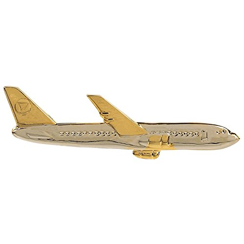 TripinBest Seller Silver Golden Classic Aeroplane Shape Tie Pin Tie Clip For...