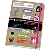Dohe Vesta Sticker - Cuaderno, A5 color rosa