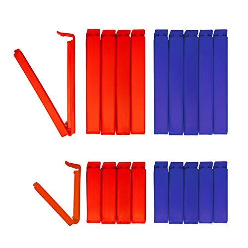 20 Tütenclips Edition New York BUNEO | 20 Verschlussclips: 5 x blau (11 cm) + 5 x rot (11 cm) + 5 x blau (6 cm) + 5 x rot (6 cm)