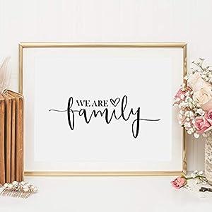 Kunstdruck, Sprüche Poster: We are family | Hochwertiges und festes Premiumpapier | Ohne Rahmen