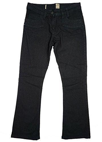 Mädchen Kick Schlaghose schmal Bootcut Mode Jeans schwarz Teens Größen 14 15 16 Jahre - Schwarz, 16 years (Bootleg Mode)