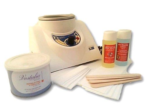 Depilación Waxing Juego completo con 400ml Cera calentador calentador de cera depilatoria para cuerpo...