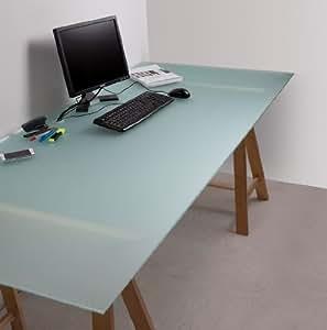 glasplatte sandgestrahlt f r schreibtisch 775 x 2050 x 8mm 8mm sicherheitsglas mit. Black Bedroom Furniture Sets. Home Design Ideas