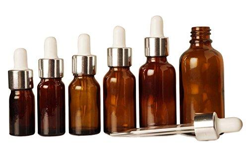 100 pcs verre ambré de pipette vide bouteille des huiles essentielles rechargeables baissent bouteilles d'aromathérapie gros boston bouteilles de pipettes ronde 10 ml