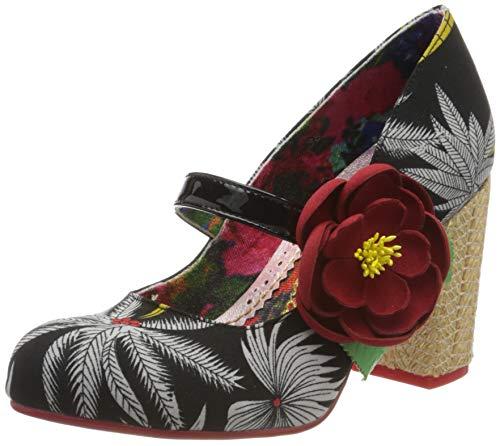 Irregular Choice Matinee, Zapatos de tacón con Punta Cerrada para Mujer, Negro Black A, 41 EU