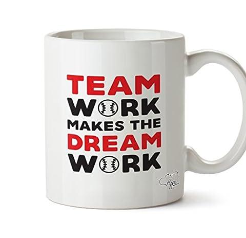 HippoWarehouse Team work makes the dream work baseball 10oz Mug Cup