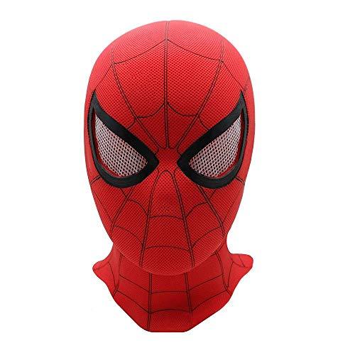Spiderman Heimkehr Kostüm Haubenmaske Led Hero Helm Für Männer Und Jugendliche PVC 3D Stereoscopic,B (Iron Mann Kostüm Teenager)