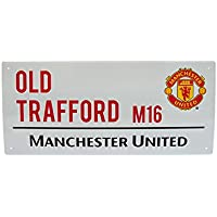 Manchester United Metal Street Sign