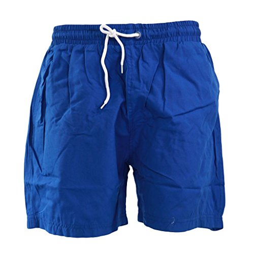 Mens Funky Retro Bright Vibrant Colour Mesh Lined Swim Shorts Swimming Beach Holiday Trunks Shorts Blue Medium