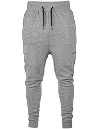 67b29b6e6acf3 juqilu Hombres Sweatpant Chandal Bottoms Hombres Pista Pantalones Deportes  Vestir Hip Hop Casual Pantalones Corriendo Trotar