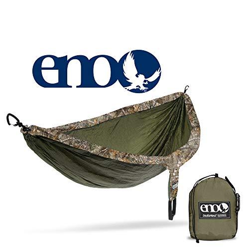 Eagles Nest Outfitters Eno DoubleNest Camo, tragbare Hängematte für Zwei Personen, Realtree Edge:Olive (Outfitters Eagles Nest Hängematte)