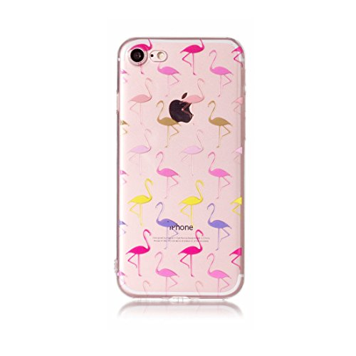 iPhone 7 Plus Custodia, Cartoon foglie di palma - TPU Silicone Trasparente Nuovo Gel Soft Case iPhone 7 Plus Custodia 5.5 durevole Cartoon Cover, Prova di scossa anti-graffio # # 5