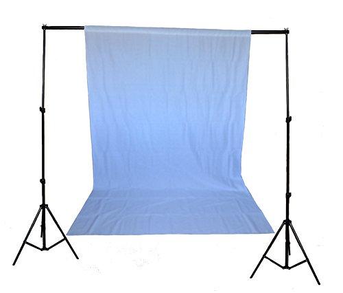 Set mit weißem Hintergrund + Ständer + 2 Klemmen zum professionellen Fotografieren (Foto) / Fotostudio