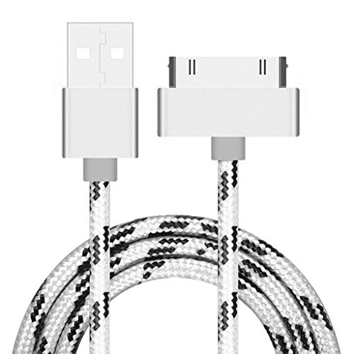 Senoow Braided 30pin USB Data Sync Charging Cable for iPhone IPod (1m) Iphone 3g Sync