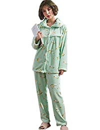 8feddc9c8 XFentech Invierno Conjunto de Pijama de Maternidad y Lactancia para Mujer - Ropa  de Dormir para