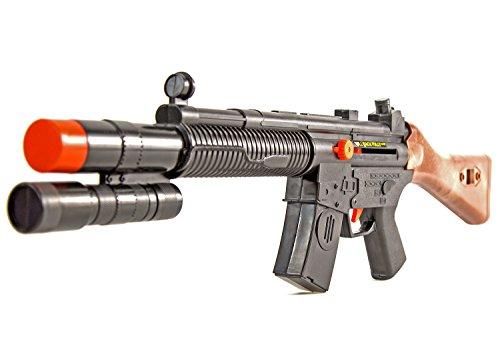 Sound-Gewehr Sturm-Gewehr 70cm Assault Spielzeug-Waffe Kinder-Spielzeug Maschinen-Gewehr Kinder-Kostüm Verkleidung Fasching (Kinder Kostüme Maschine Krieg Für)