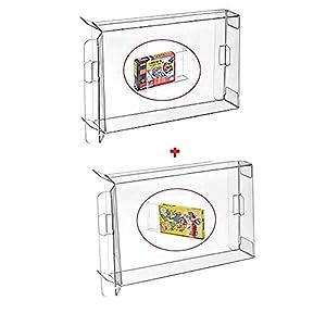 WICAREYO 10PCS Fall-Hülse für NES Kasten Spielpatrone CIB Schutz für NES & 10PCS Clear Box Hülse für SNES N64 Spiele…