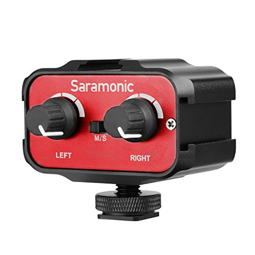 Saramonic Universal Mikrofon Audio Mixer Audio-Mischer Eingänge Doppel Kanal Stereo Audio Kombinierer für DSLR Kameras & Camcorder Mic - Mic-kamera-adapter