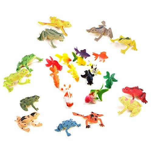 nststoff Frosch Figuren Marine Tier Spielzeug 6 cm Goldfish Simulation Tier Modell Früherziehung Spielzeug für Kinder Geschenk (A-Frogandfish) ()