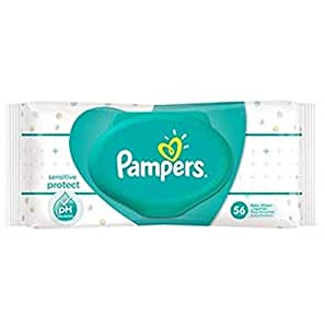 Pampers Baby's Sensitive Wipes (56 Counts) - Pack of 2