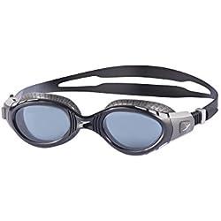Speedo Futura Biofuse Flexiseal Gafas de Natación, Unisex Adulto, Gris frío/Negro/Humo, Talla Única