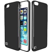 iPhone 5/SE Custodia. Kingshark ultra caso della copertura della cassa [sottile sottile] gomma flessibile del gel di TPU molle del silicone pelle protettiva per iPhone 5/SE Nero