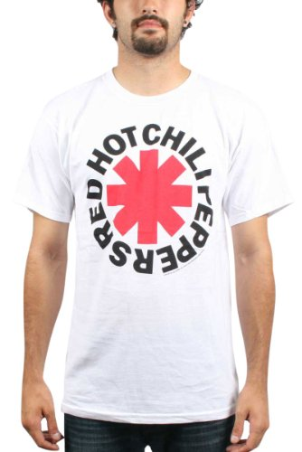 Red Hot Chili Peppers - Asterisk Logo Erwachsene T-Shirt in Weiß White