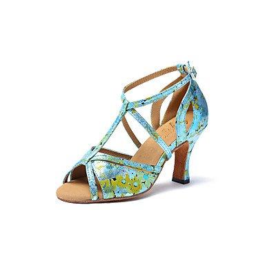 Scarpe da ballo-Non personalizzabile-Da donna-Balli latino-americani / Jazz-A stiletto-Sintetico-Verde / Dorato Gold