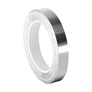 "TapeCase 0.125-5-420 Dark Silver Lead/Rubber Adhesive Tape, Linered Lead Foil Tape-Converted from 3M 420, 60-225 degree F Performance Temperature, 0.0068"" Thick, 5"" Length, 0.125"" Width, Roll"